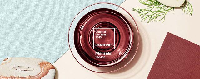 パントンの2015 Color of the Yearは「MARSALA:マルサラ」