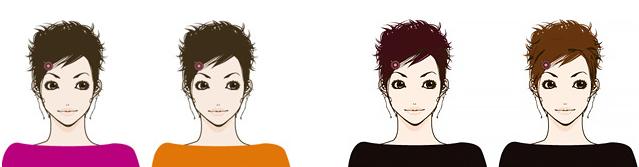「似合う」の前に、色によって印象や顔色がどのように変化するかを知ること賀必要です。